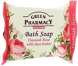 """Parfémy, Parfumerie, kosmetika Mýdlo """"Damašková růže s bambuckým olejem"""" - Green Pharmacy"""