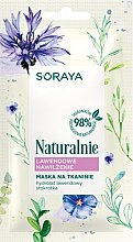 Parfémy, Parfumerie, kosmetika Hydratační levandulová látková maska na obličej - Soraya Naturalnie Face Mask