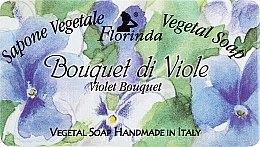 "Parfémy, Parfumerie, kosmetika Přírodní mýdlo ""Kytice fialek"" - Florinda Sapone Vegetale Vegetal Soap Violet Bouquet"