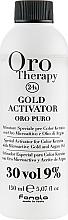 Parfémy, Parfumerie, kosmetika Oxidační činidlo s mikročásticemi zlata 9% - Fanola Oro Gold