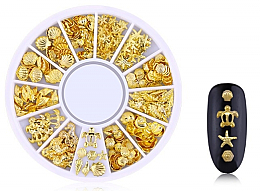 Parfémy, Parfumerie, kosmetika Ozdoby na nehty Gold-7 - Deni Carte