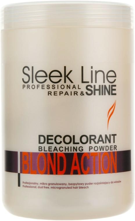 Zesvětlující pudr na vlasy - Stapiz Sleek Line Repair & Shine Blond Action — foto N1