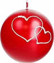 Parfémy, Parfumerie, kosmetika Dekorativní svíčka červená koule, 10cm - Artman Forever