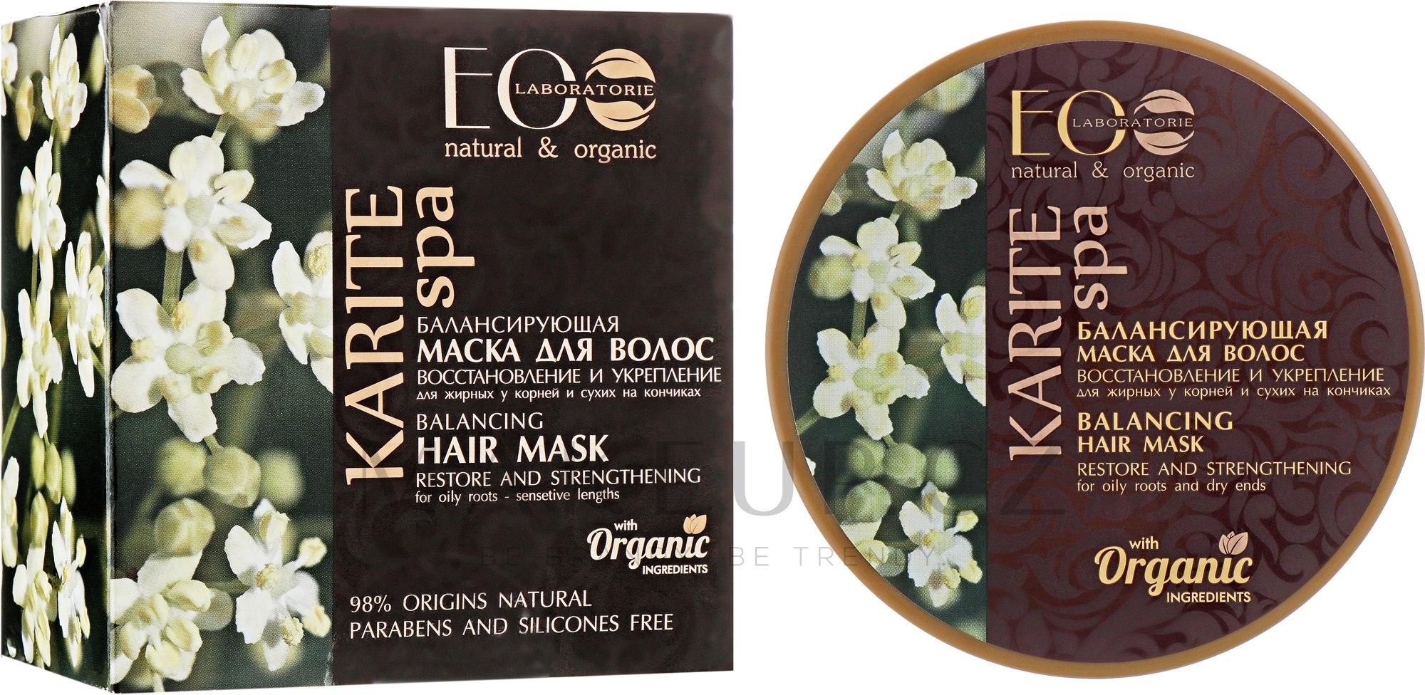 """Vyvažující vlasová maska """"Obnovení a posílení"""" - ECO Laboratorie Karite SPA Hair Mask — foto 200 ml"""