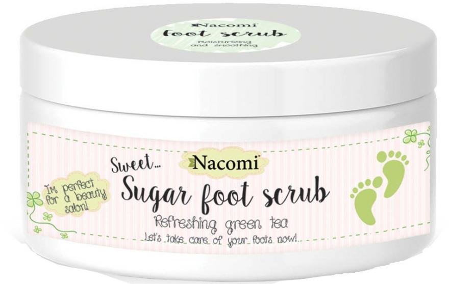 Cukrový peeling na nohy se zeleným čajem - Nacomi Sugar Foot Peeling — foto N1