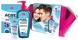 Parfémy, Parfumerie, kosmetika Sada - Dermacol Acneclear (clean/gel/200ml + gel/cr/50ml + f/mask/2x8ml)