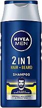 Parfémy, Parfumerie, kosmetika Šampon 2v1 pro vlasy a bradu - NIVEA Men 2 in 1 Protect & Care Shampoo