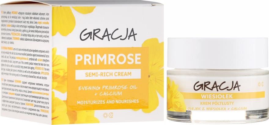 Výživný krém s pupalkovým olejem - Gracja Semi-oily Cream With Evening Primrose