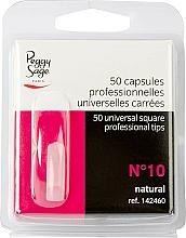 """Parfémy, Parfumerie, kosmetika Univerzální nehtové hranaté tipy """"№10"""", 50 ks - Peggy Sage Tips"""