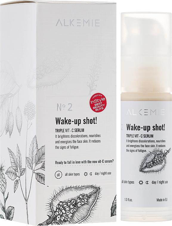 Sérum pro obličej s trojitým vitaminem C - Alkemie Wake-up shot Triple Vit-C Serum