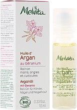 "Parfémy, Parfumerie, kosmetika Olej ""Argan a geranium"" pro ruce, nehty a kůžičku - Melvita Huiles De Beaute Roll-on Argan Oil and Geranium"