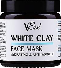 Parfémy, Parfumerie, kosmetika Pleťová maska s bílým jílem - VCee White Clay Face Mask Hidrating&Anti-Wrinkle
