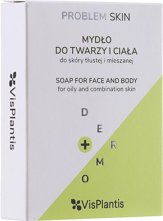 Mýdlo pro problémovou pleť - Vis Plantis Soaps Birch Tar Soap With Olive Oil For Face And Body Problem Skin