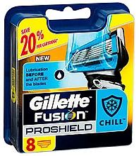 Parfémy, Parfumerie, kosmetika Náhradní hlavice k holicímu strojku, 8 ks - Gillette Fusion ProShield Chill