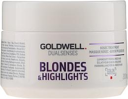 Parfémy, Parfumerie, kosmetika Maska pro zesvětlené a melírované vlasy - Goldwell Dualsenses Blondes & Highlights 60sec Treatment