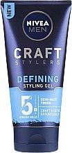 Parfémy, Parfumerie, kosmetika Stylingový gel na matný vzhled vlasů - Nivea Men Craft Stylers Defining Styling Gel