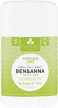 Parfémy, Parfumerie, kosmetika Deodorant se sodou Persian Lime (Plast) - Ben & Anna Natural Soda Deodorant Persian Lime