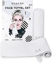 """Parfémy, Parfumerie, kosmetika Cestovní sada ručníků na obličej, bílé """"MakeTravel"""" - Makeup Face Towel Set"""