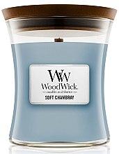 Parfémy, Parfumerie, kosmetika Vonná svíčka ve sklenici - WoodWick Hourglass Candle Soft Chambray