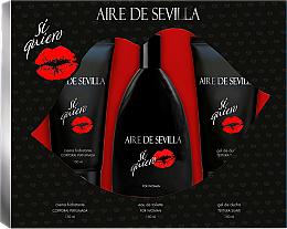 Parfémy, Parfumerie, kosmetika Instituto Espanol Aire de Sevilla Si Quiero - Sada (edt/150ml + s/g/150ml + b/cr/150ml)