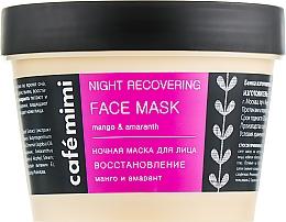 Parfémy, Parfumerie, kosmetika Noční maska na tvář Obnova - Cafe Mimi Night Recovering Face Mask