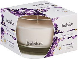 "Parfémy, Parfumerie, kosmetika Vonná svíčka ve sklenici ""Levandule a heřmánek"", 63/90 mm - Bolsius True Moods Candle"