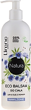 """Parfémy, Parfumerie, kosmetika Hydratační balzám pro tělo """"Len a olej konopí"""" - Lirene Natura Eco Balm"""