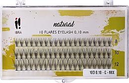 Parfémy, Parfumerie, kosmetika Umělé řasy, C Mix - Ibra 10 Flares Eyelash Knot Free Naturals C Mix
