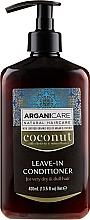 Parfémy, Parfumerie, kosmetika Nesmyvatelný kondicionér pro velmi suché a matné vlasy - Arganicare Coconut Leave-In Conditioner For Very Dry & Dull Hair