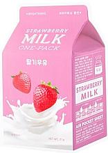 Parfémy, Parfumerie, kosmetika Látková maska Jahoda - A'Pieu Milk One-Pack Brightening Strawberry