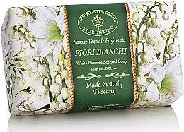 Parfémy, Parfumerie, kosmetika Prírodní mýdlo Bílé květiny - Saponificio Artigianale Fiorentino White Flowers Scented Soap