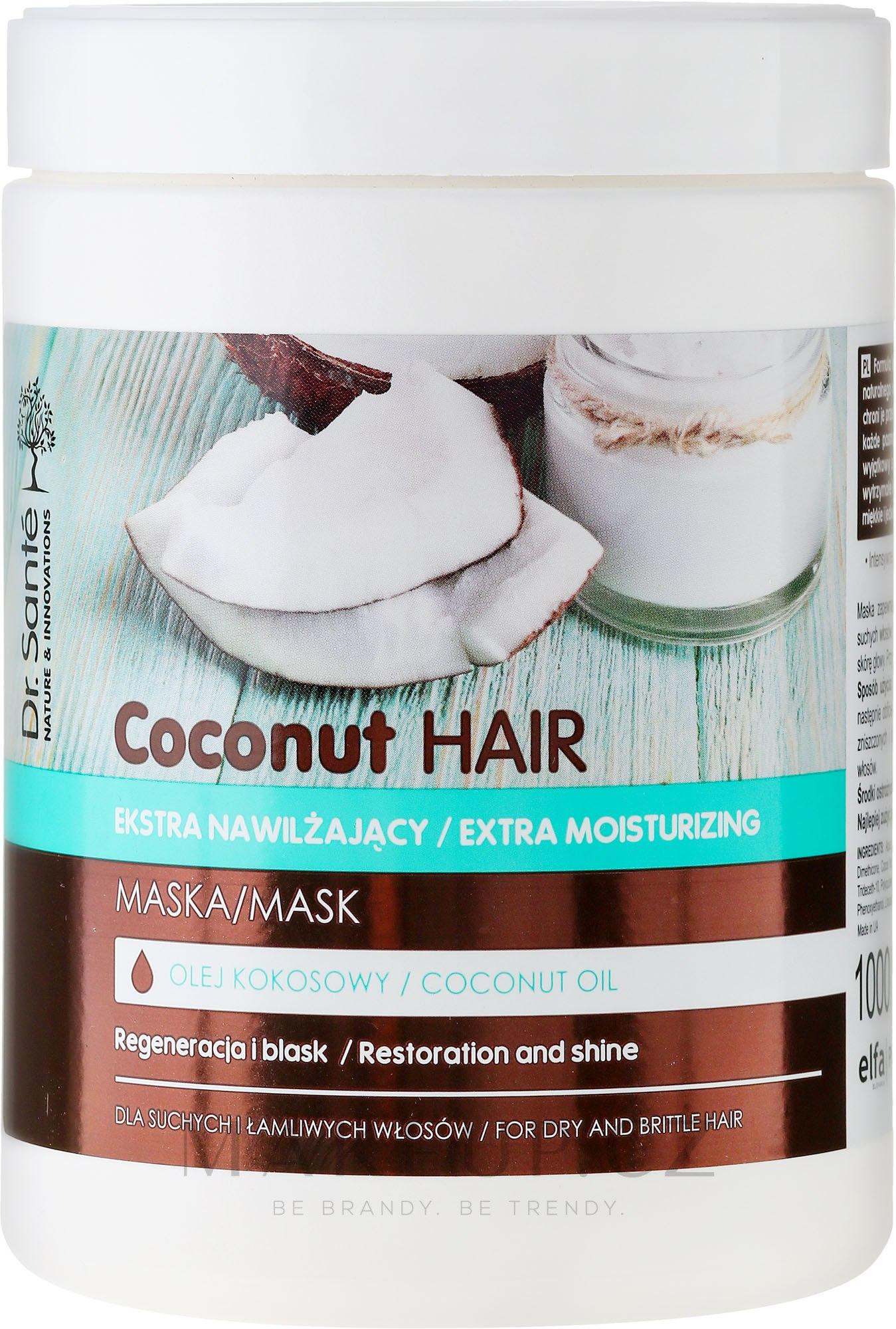 "Maska na vlasy ""Obnova a lesk"" - Dr. Sante Coconut Hair — foto 1000 ml"
