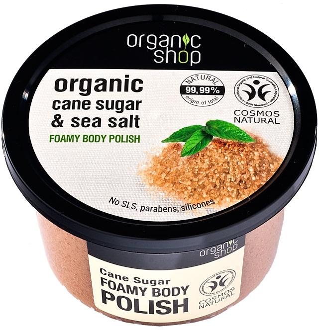 "Pěnový tělový peeling ""Třtinový cukr"" - Organic Shop Foamy Body Scrub Organic Cane Sugar & Sea Salt"
