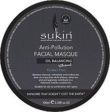 Parfémy, Parfumerie, kosmetika Maska na obličej proti znečištění - Sukin Oil Balancing + Charcoal Anti-Pollution Facial Masque
