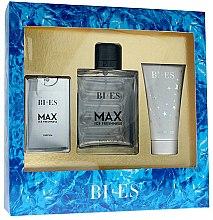 Parfémy, Parfumerie, kosmetika Bi-Es Max Ice Freshness - Sada (edt/100ml + edt/15ml + sh/gel/50ml)