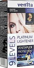 Parfémy, Parfumerie, kosmetika Zesvětlovač na vlasy o 9 odstínů - Venita Plex Platinum Lightener