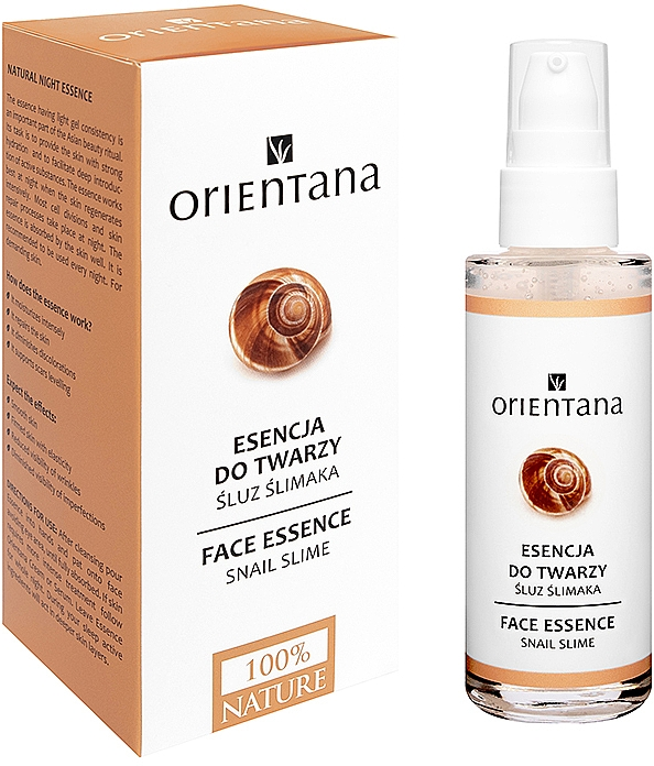 Esence-maska na obličej - Orientana Bio Essence-Mask Snail Secretion Filtrate — foto N1