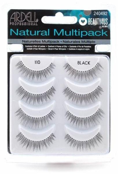 Umělé řasy - Ardell Natural Multipack Black 110 — foto N1