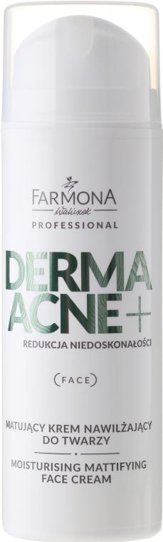 Krém matující s AHA kyselinami - Farmona Professional Dermaacne+ Moisturising Mattifying Face Cream