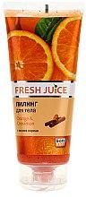 "Parfémy, Parfumerie, kosmetika Peeling na tělo ""Pomeranč a skořice"" - Fresh Juice Orange & Cinnamon"