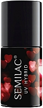 Parfémy, Parfumerie, kosmetika Hybridní lak na nehty - Semilac Platinum UV Hybrid Valentine