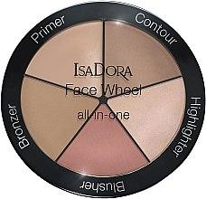 Parfémy, Parfumerie, kosmetika Paleta na líčení 5 v 1 - IsaDora Face Wheel All-In-One