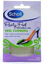 Parfémy, Parfumerie, kosmetika Gelové polštářky pod paty, do bot s plochou podrážkou - Scholl Party Feet Heel Cushions