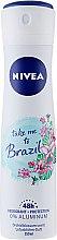 Parfémy, Parfumerie, kosmetika Deodorant sprej antiperspirant - Nivea Take Me To Brazil Spray