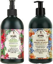 Parfémy, Parfumerie, kosmetika Sada mýdla na ruce a tělo - Recepty babičky Agafií (soap/2x500ml)