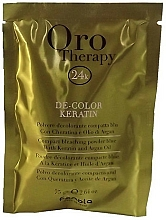 Parfémy, Parfumerie, kosmetika Zesvětlující prášek s keratinem, světle modrý - Fanola Oro Therapy Color Keratin