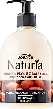 """Parfémy, Parfumerie, kosmetika Tekuté mýdlo """"Arganový olej"""" - Joanna Naturia Argan Oil Liquid Soap"""
