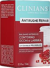Parfémy, Parfumerie, kosmetika Balzám proti prvním vráskám na oční okolí a rty s extraktem z granátového jablka - Clinians Antirughe Quotidiana