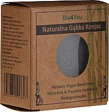 Parfémy, Parfumerie, kosmetika Přírodní konjacový sponge s aktivním bambusovým uhlím - Bio4You