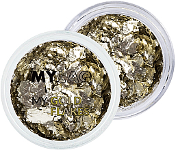 Parfémy, Parfumerie, kosmetika Zlaté vločky pro nehtový design - MylaQ My Gold Flakes